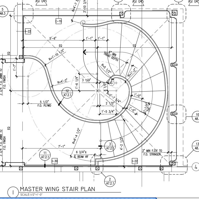 for Curved staircase floor plans