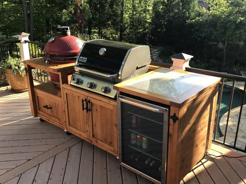 Outdoor Grill Kitchen Grill Cabinet Grill Table And Other Etsy Diy Outdoor Kitchen Kitchen Grill Grill Table