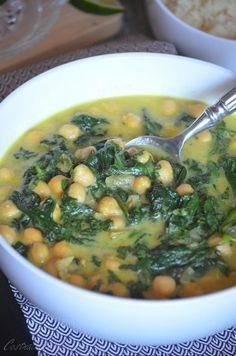 Curry de pois chiches et épinards #poteechouvert