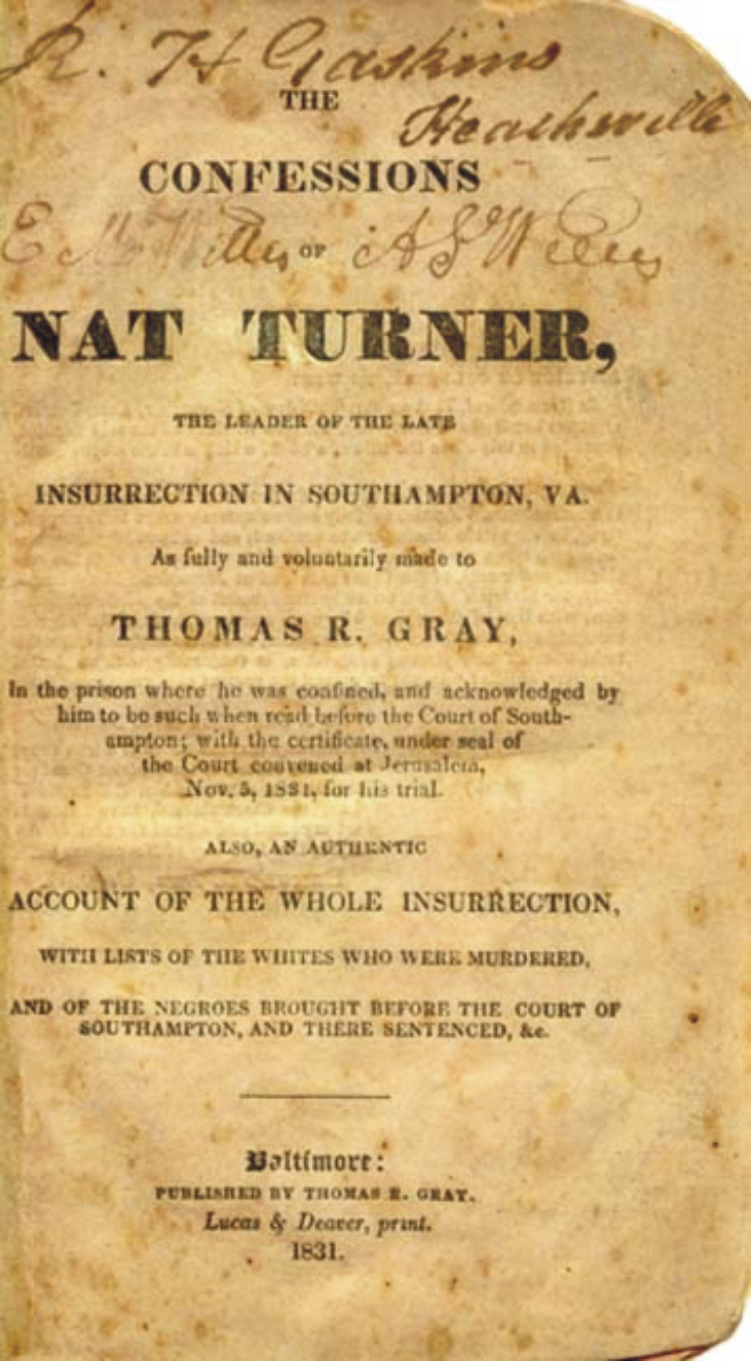 Free Nat Turner Essays and Papers | Help Me