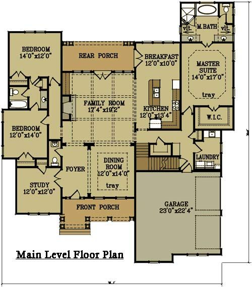 2 Story 4 Bedroom Brick House Plan By Max Fulbright Designs Brick House Plans Brick Exterior House Floor Plans