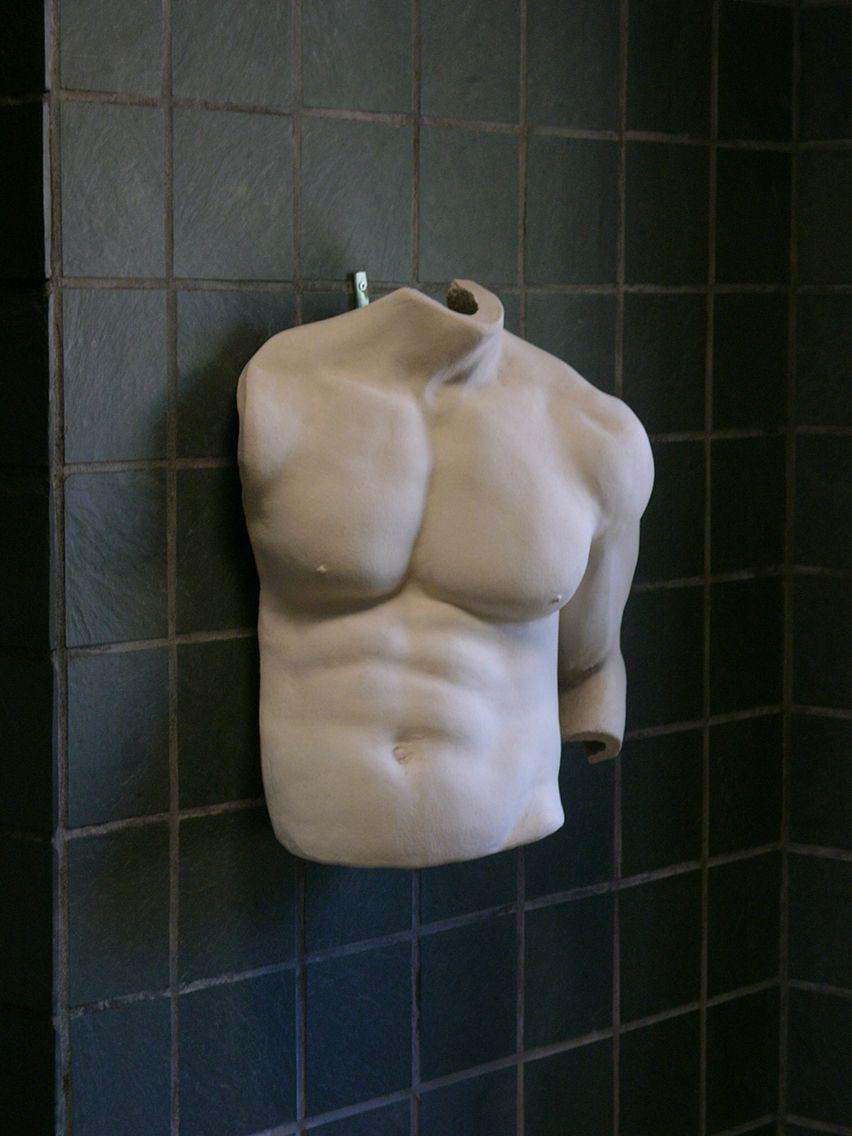 70's vintage ceramic body cast Toros by Gene Dodak