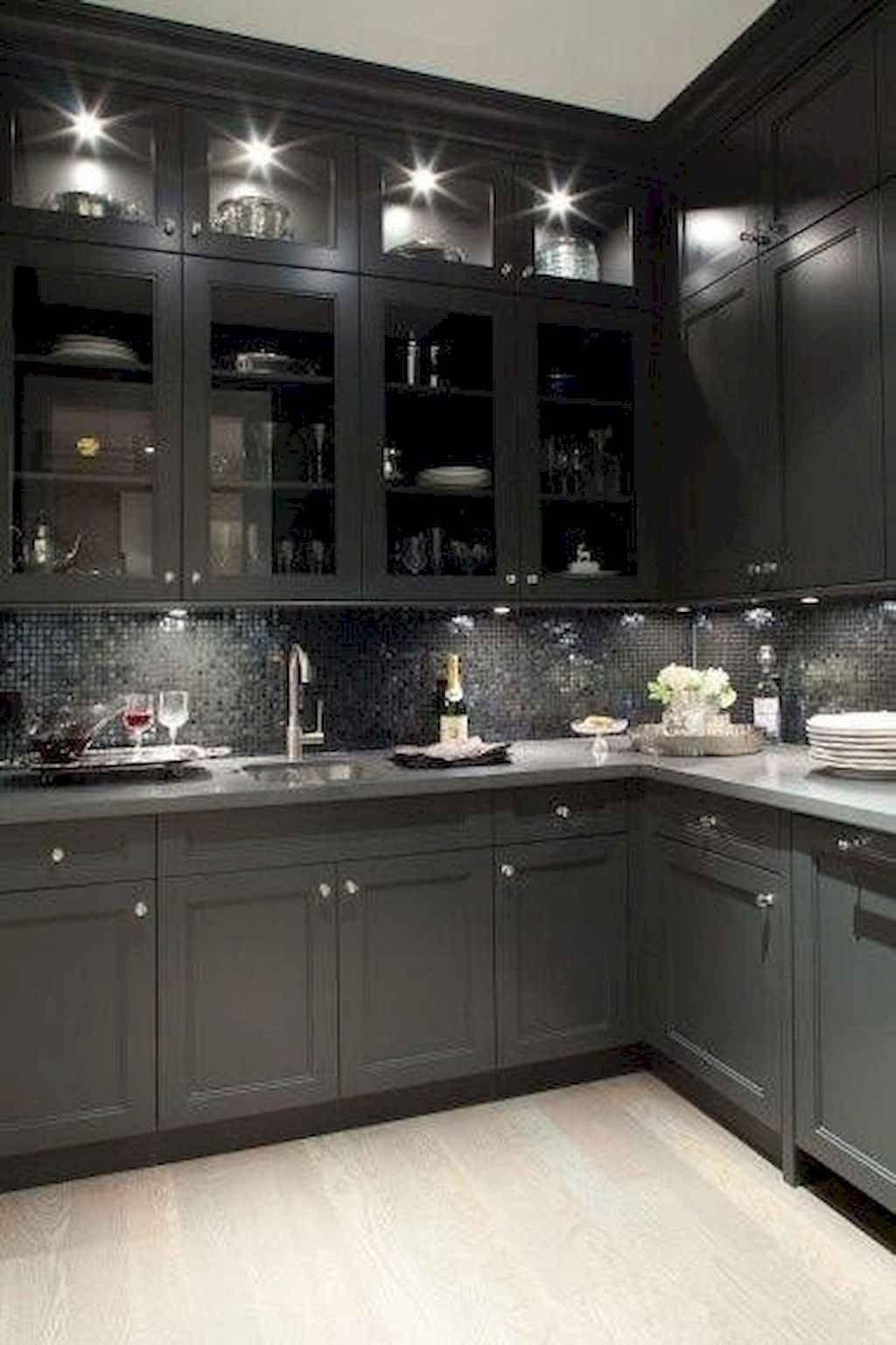 60 Black Kitchen Cabinets Design Ideas Shaker Style Kitchen Cabinets Kitchen Cabinet Styles Modern Kitchen Design