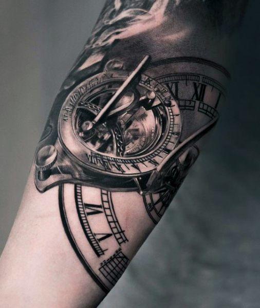 80 Clock Tattoo Designs For Men Timeless Ink Ideas Next Tat
