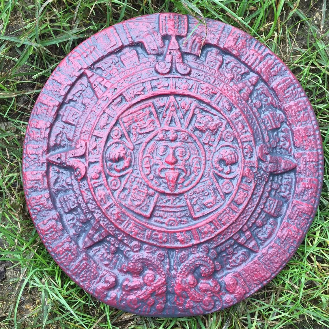 Aztec calendar stepping stone mold concrete cement garden