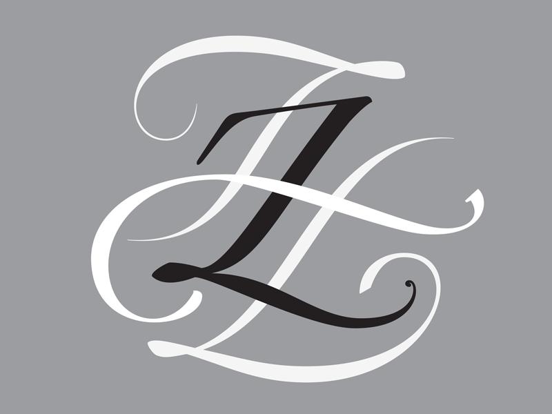 Hermann Zapf tribute monogram by @AndreiRobu (www.robu.co)