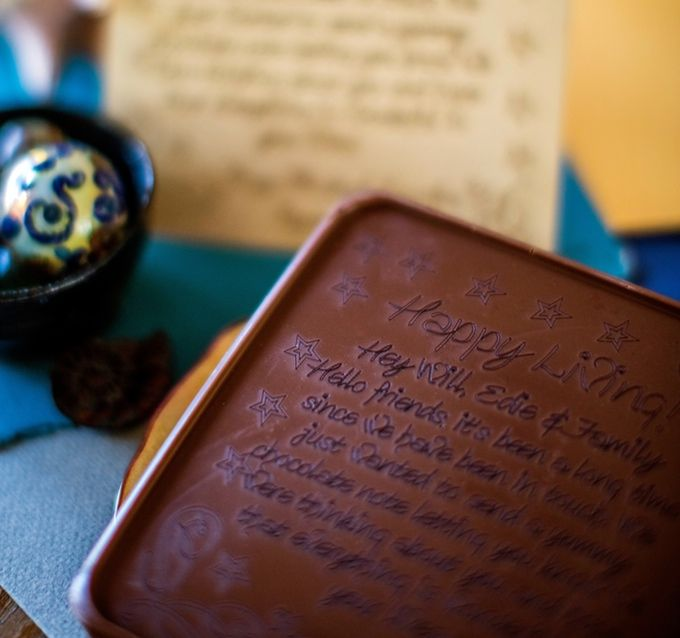 Noteworthy Chocolates - Your message engraved in chocolate