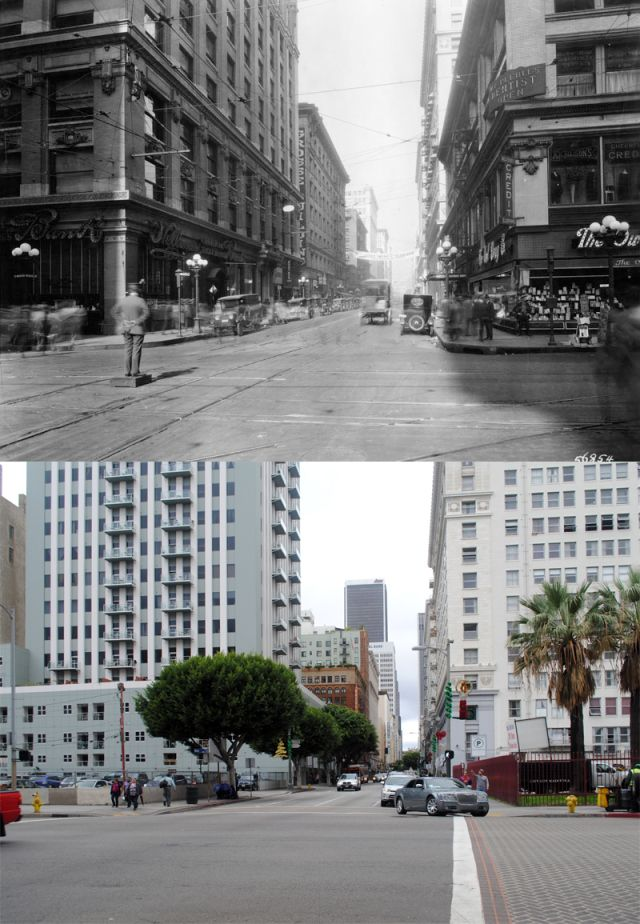 Looking West On Sixth Street From Main Street C 1920 2012 Los Angeles Area Main Street Los Angeles History