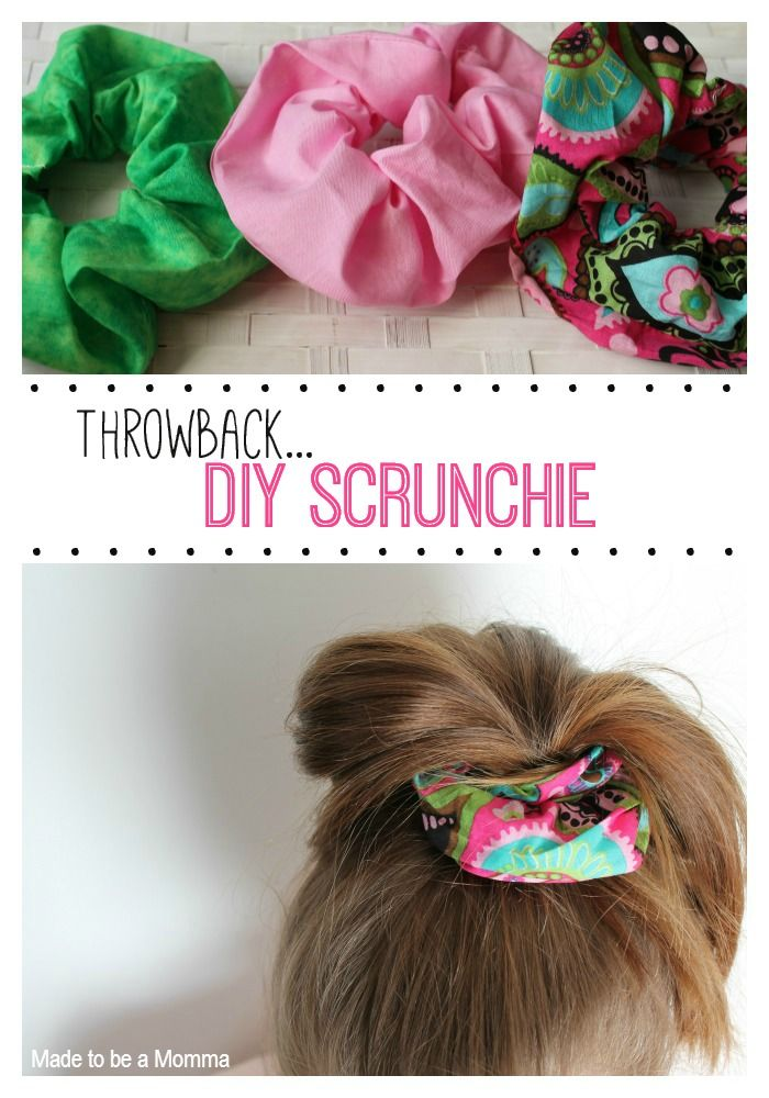 Made to be a Momma | Throwback DIY Scrunchie #hairaccessories #freesewingpattern #tutorial