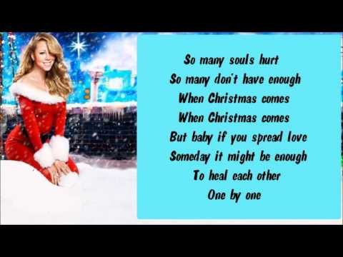Mariah Carey - When Christmas Comes + Lyrics   Mariah carey, Music book, O holy night