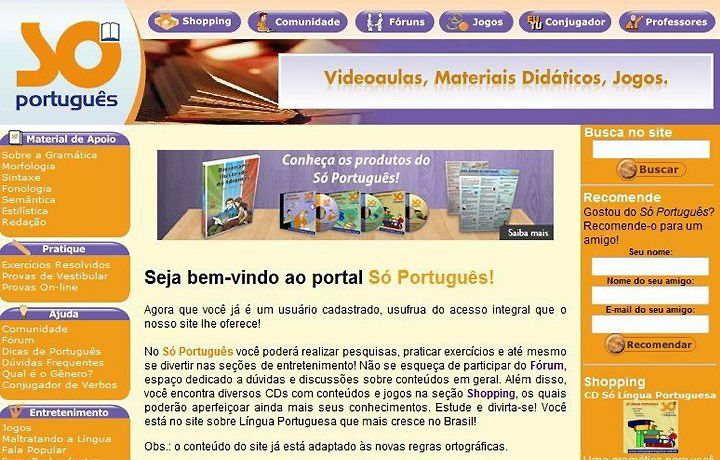Site So Portugues Contem Diversos Conceitos Entre Software Jogos Entre Outra Sugestoes Para Voce Educador Exercicios Resolvidos Portugues Material Didatico