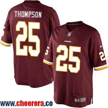 Men s Washington Redskins  25 Chris Thompson Burgundy Red Team Color  Stitched NFL Nike Game Jersey 73f597f92