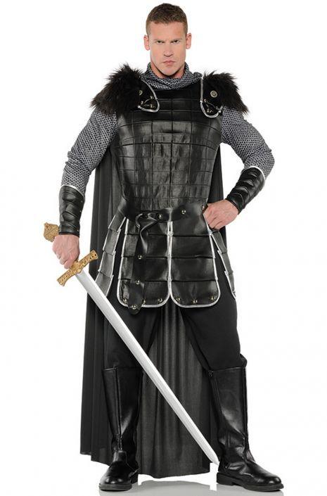 BLACK PIRATE KING ADULT MENS FANCY DRESS HALLOWEEN COSTUME