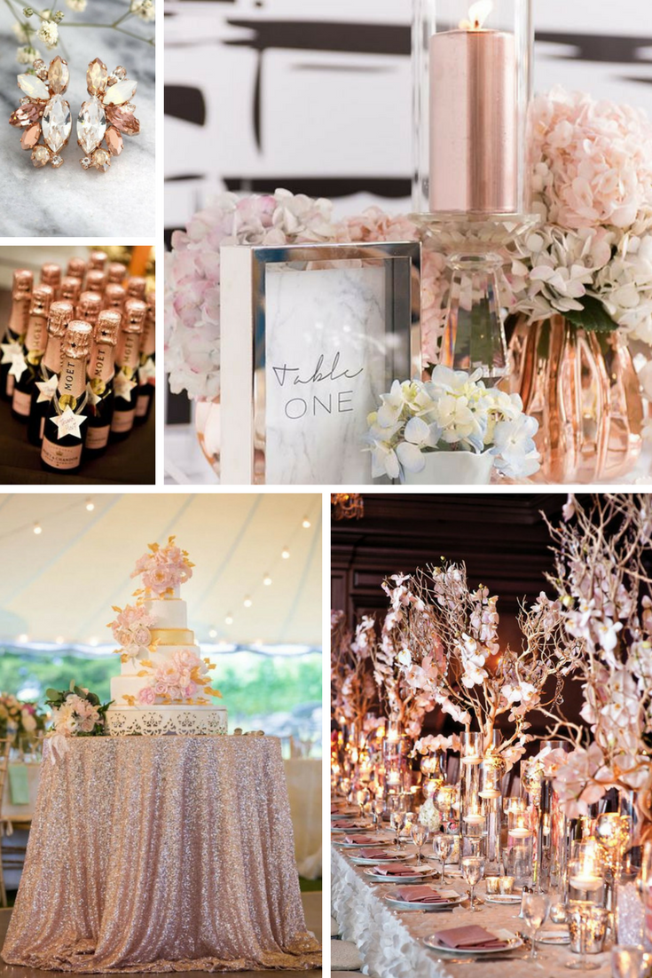 Rose Gold Wedding Inspiration Rose Gold Wedding Inspiration Wedding Rose Gold Theme Gold Wedding Decorations