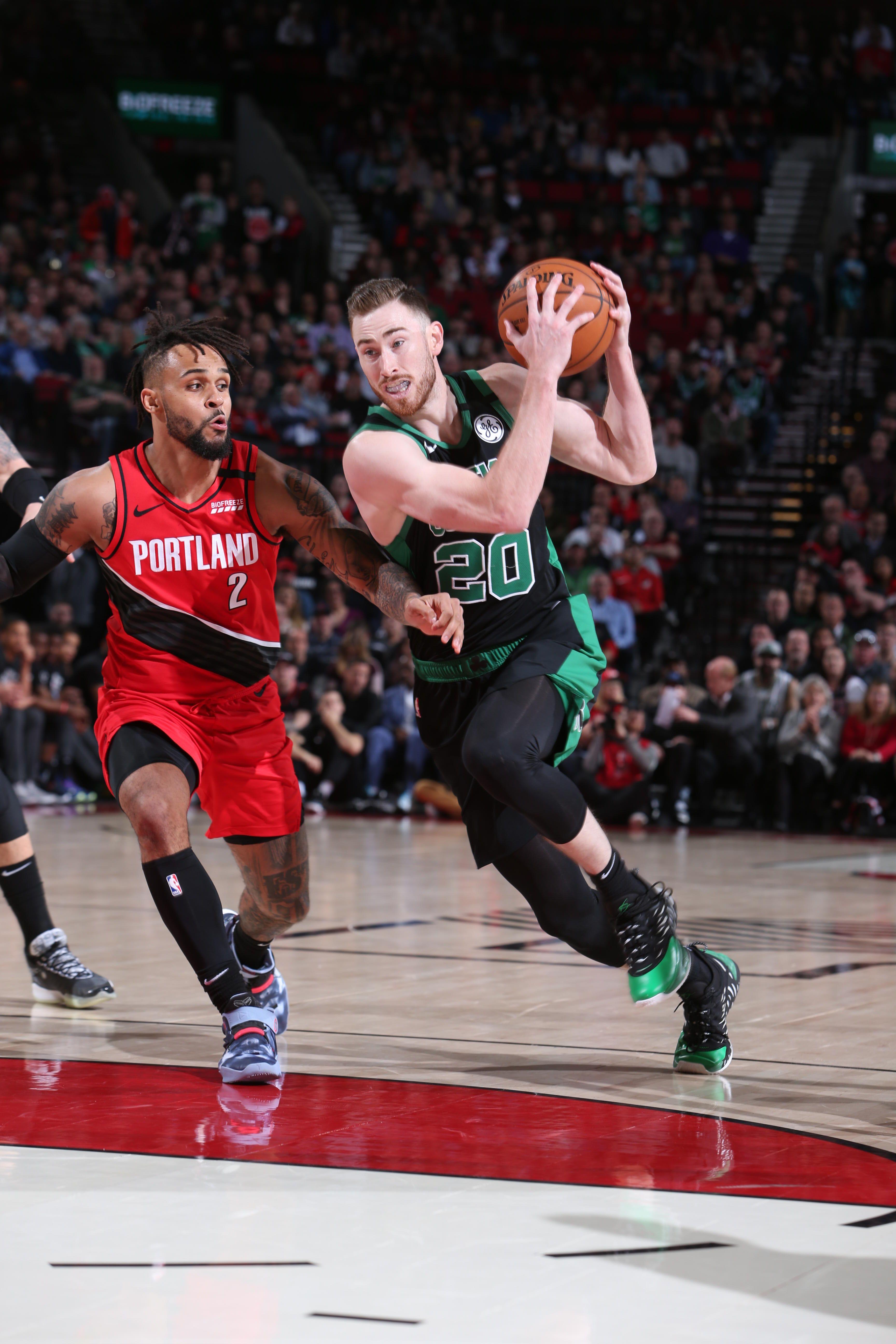 Photos Celtics Vs Trail Blazers Feb 25 2020 Boston Celtics Trail Blazers Boston Celtics Celtic