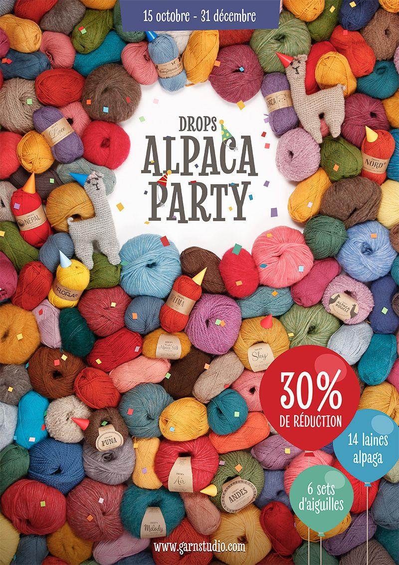 DROPS Alpaca Party! Recevez 30% de réduction sur 14 laines alpaga et 6 sets d'aiguilles #cardigans