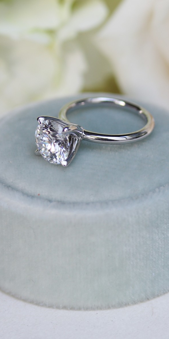 Classic Four Prong Solitaire Classic Engagement Rings Best Engagement Rings Lab Diamond Engagement Ring