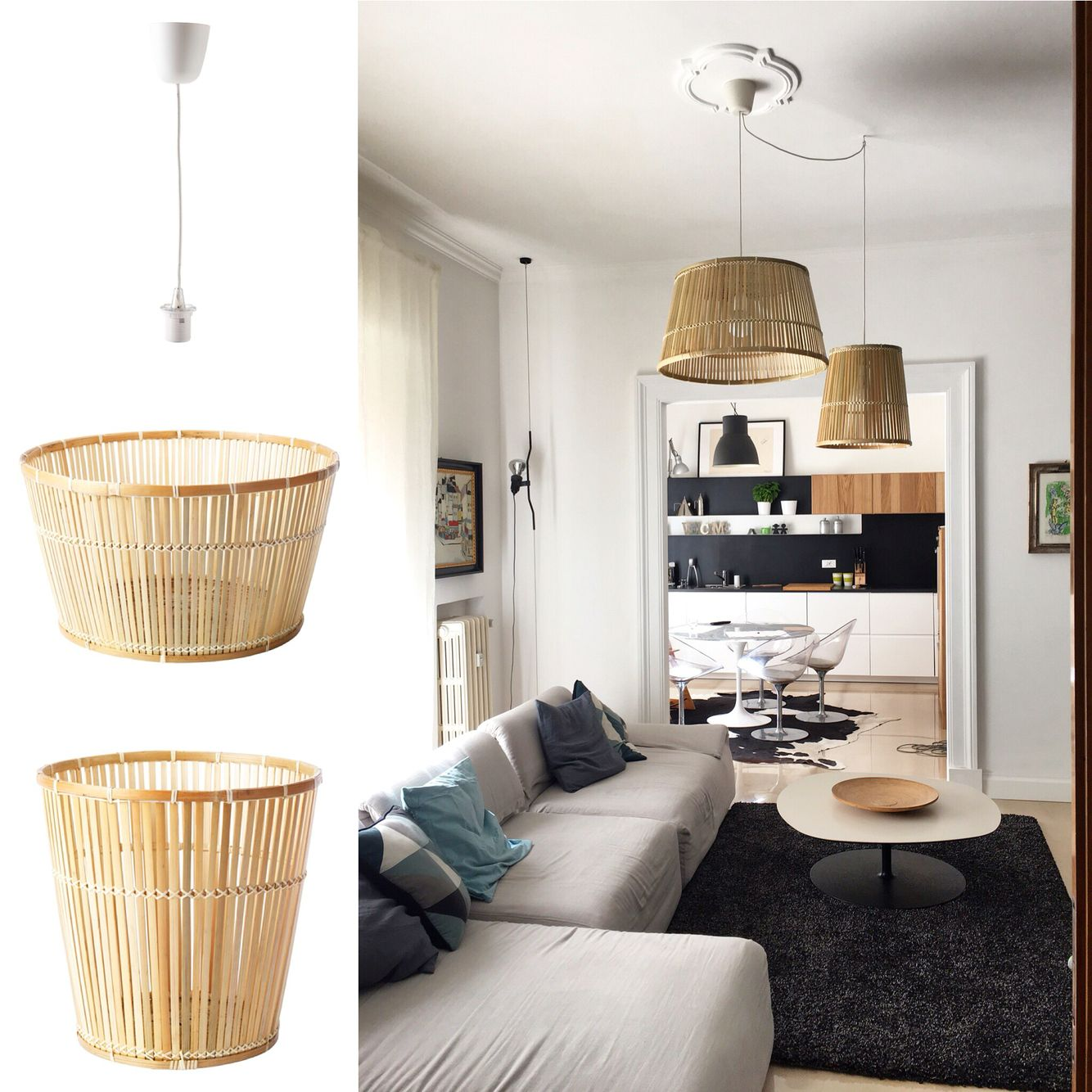 Ikea Hack Viktigt Baskets As Pendant Lights By Mommodesign Ikea Hack Furniture Hacks Ikea Furniture Hacks