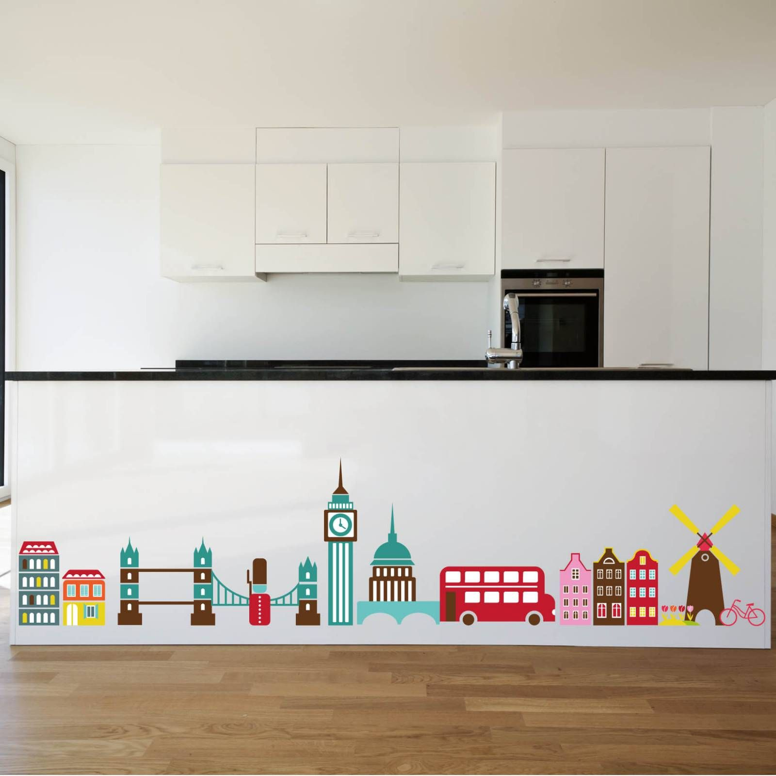 London Skyline Wall Sticker Stickers Places Singapore Home Design