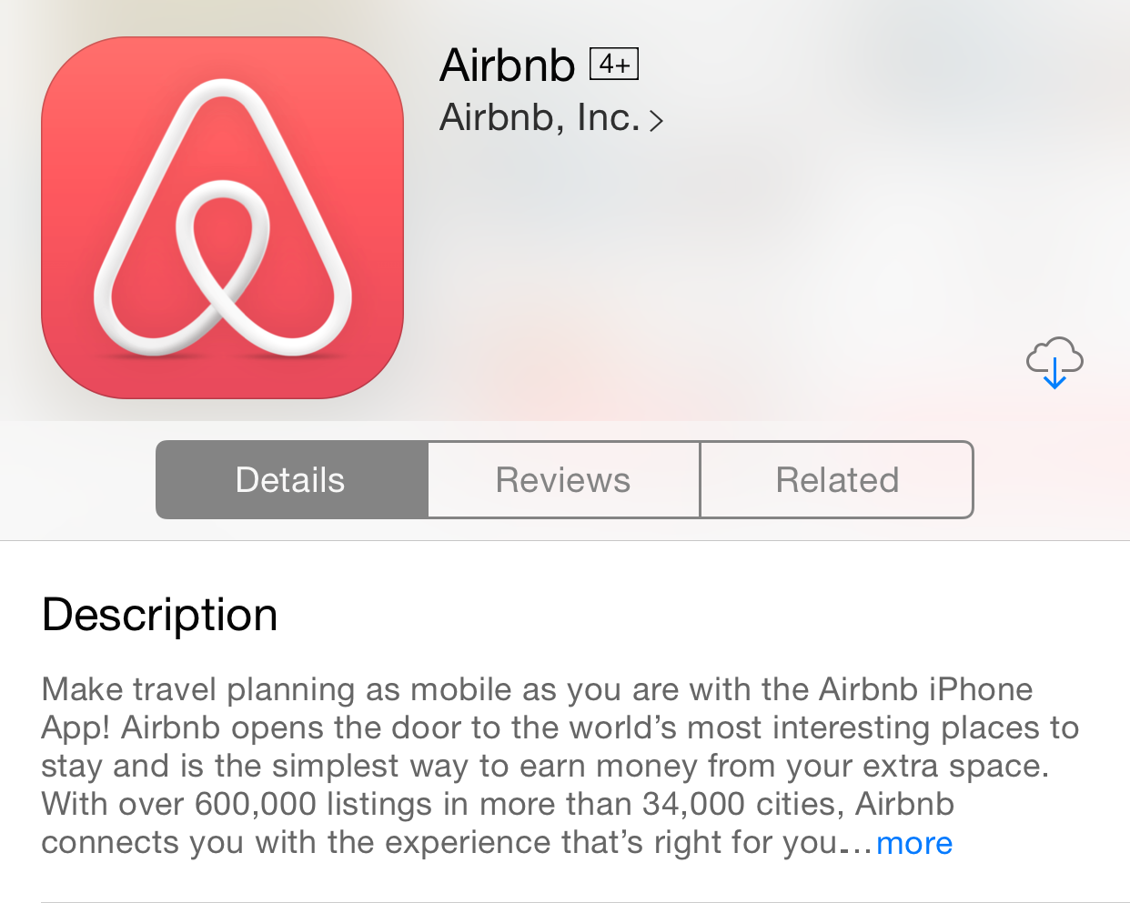 Image result for airbnb app store