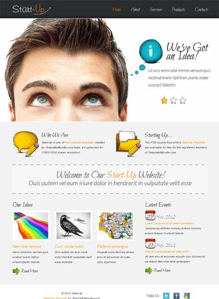 Free website template for business startup html httpwww free website template for business startup html httptemplatemonster pronofoot35fo Choice Image