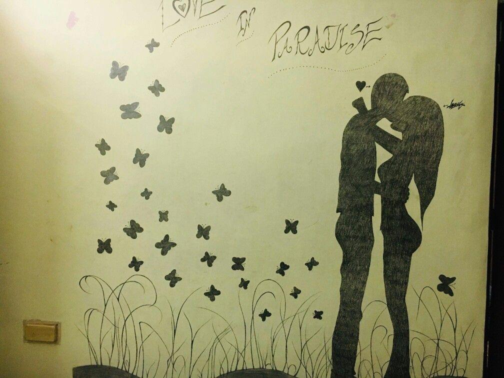 Vinyl wall àrt | bedroom wall art | pencil drawing | Vinyl ...