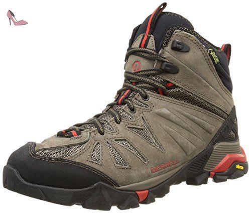 Merrell Capra Mid Gore-tex, Chaussures de Randonnée Hautes homme, Marron  (Boulder