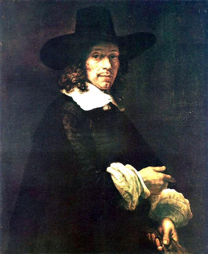 Portrait Of A Gentleman With A Tall Hat And Gloves By Rembrandt Http Www Artoyster Com Van Rijn Rembrandt Paintings Schilderij Holland