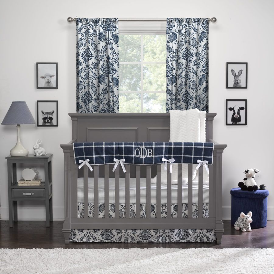 Modern Farmhouse Floral Bumperless Crib Bedding Farmhouse Baby Bedding Cribs Farmhouse Bedding Sets
