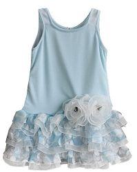 Isobella & Chloe Tiny Dancer Sky Polka Dot Dress *Preorder*