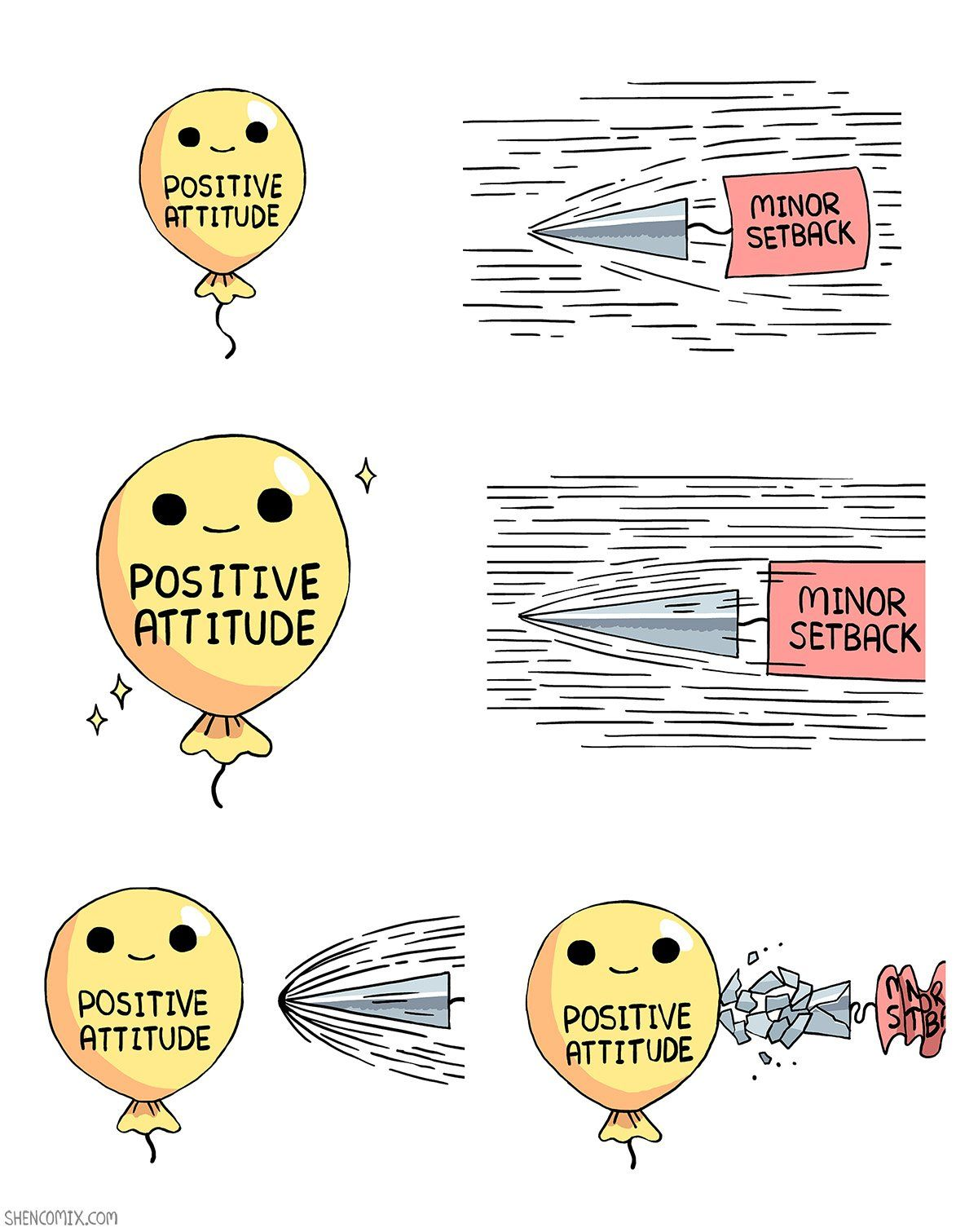 Think Positive Thoughts Meme