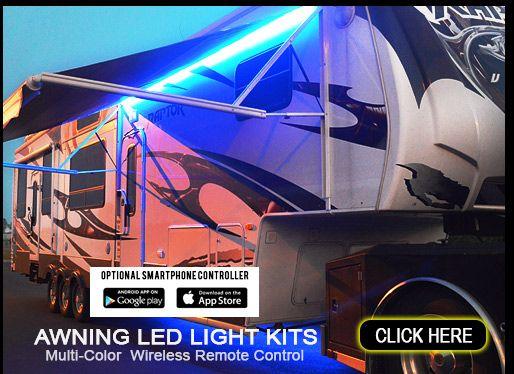 Boogey Lights Led Awning Light Kits For Rvs Campers And Trailers Travel Trailer Storage Led Light Kits Led Lights