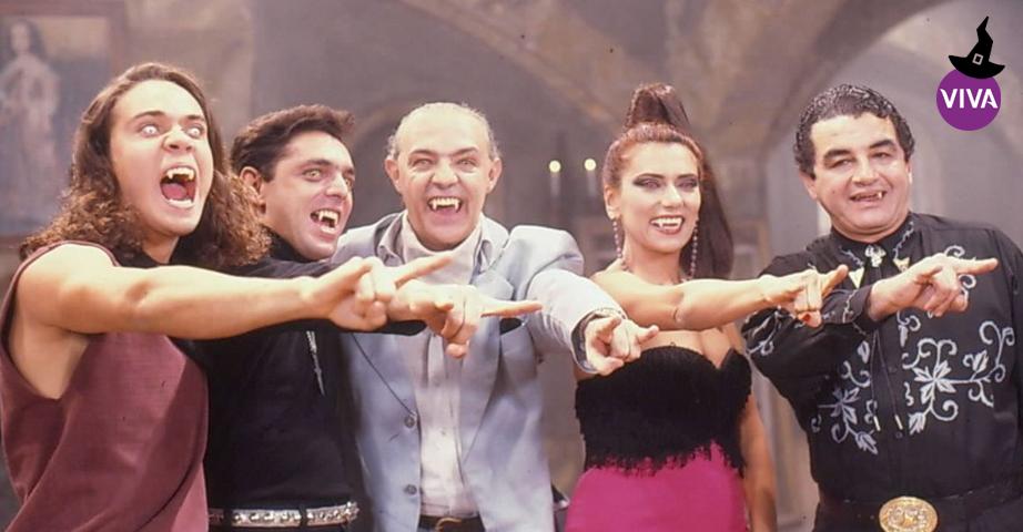 Matosão, Gerald Lamas, Conde Vladimir Polanski, Mary Ramos e Osvaldo Matoso - VAMP - telenovela brasileira que foi produzida e exibida no horário às 19h pela Rede Globo entre 15 de julho de 1991 e 7 de fevereiro de 1992 , também exibida pelo Canal VIVA