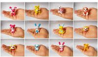 Su Ami, cute animal gifts, collectible toys, doll crochet miniatures: Mini