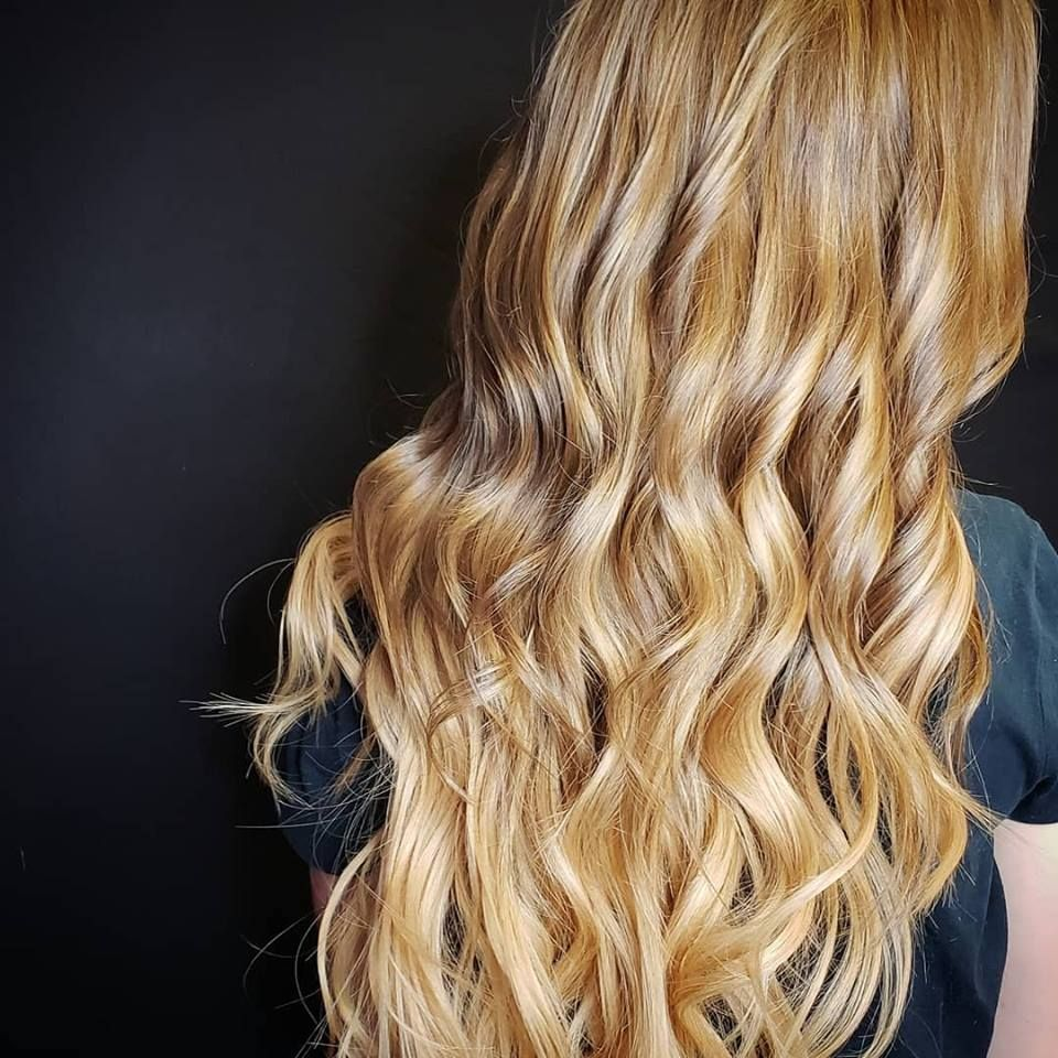 A soft ombre effect achieved with keratin tipped