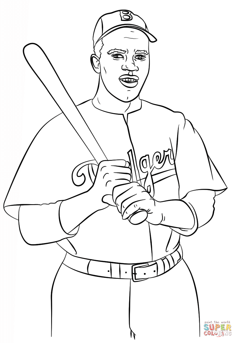 Jackie Robinson Coloring Page Free Printable Coloring Pages Jackie Robinson Jackie Robinson Project Coloring Pages
