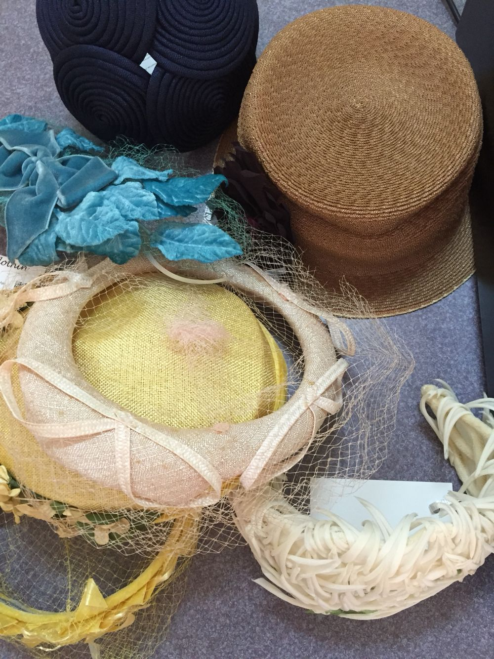 Awesome #vintage #summer #hats just hit the shop we are loving the colors and various designs www.vintageclothin.com #vintage #vintagehat #vintagelove #vintageshop #vintagewear #vintagestore #vintageseller #vintageclothin #vintageforsale #vintageacessories