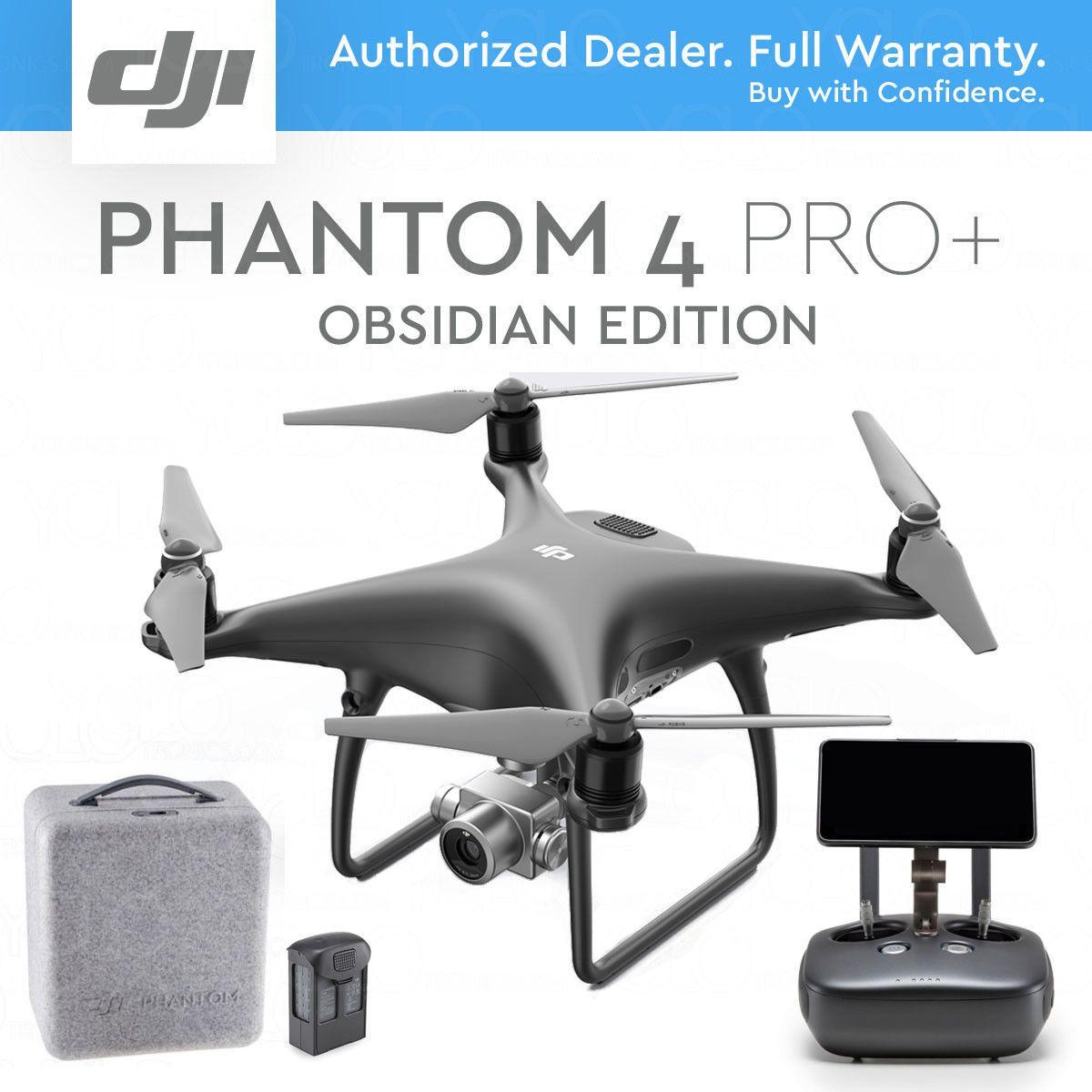 Dji Phantom 4 Pro Plus Drone 4k 20mp 5 5 Display Black Obsidian Edition Dji Phantom 4 Drone Dji Phantom