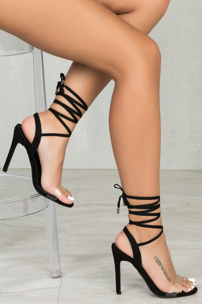 52c18f7ba9a Ariana Lace Up Heel (Black)- PREORDER SHIPS 2/17 | SHOE GAME CRAY ...