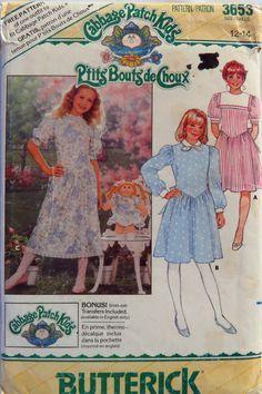 Butterick 3653 Cabbage Patch Kids Child's Dress