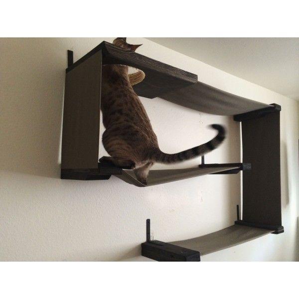 Catastrophicreations Fabric Cat Wall Maze Cat Heaven Diy Cat Toys Cat Shelves
