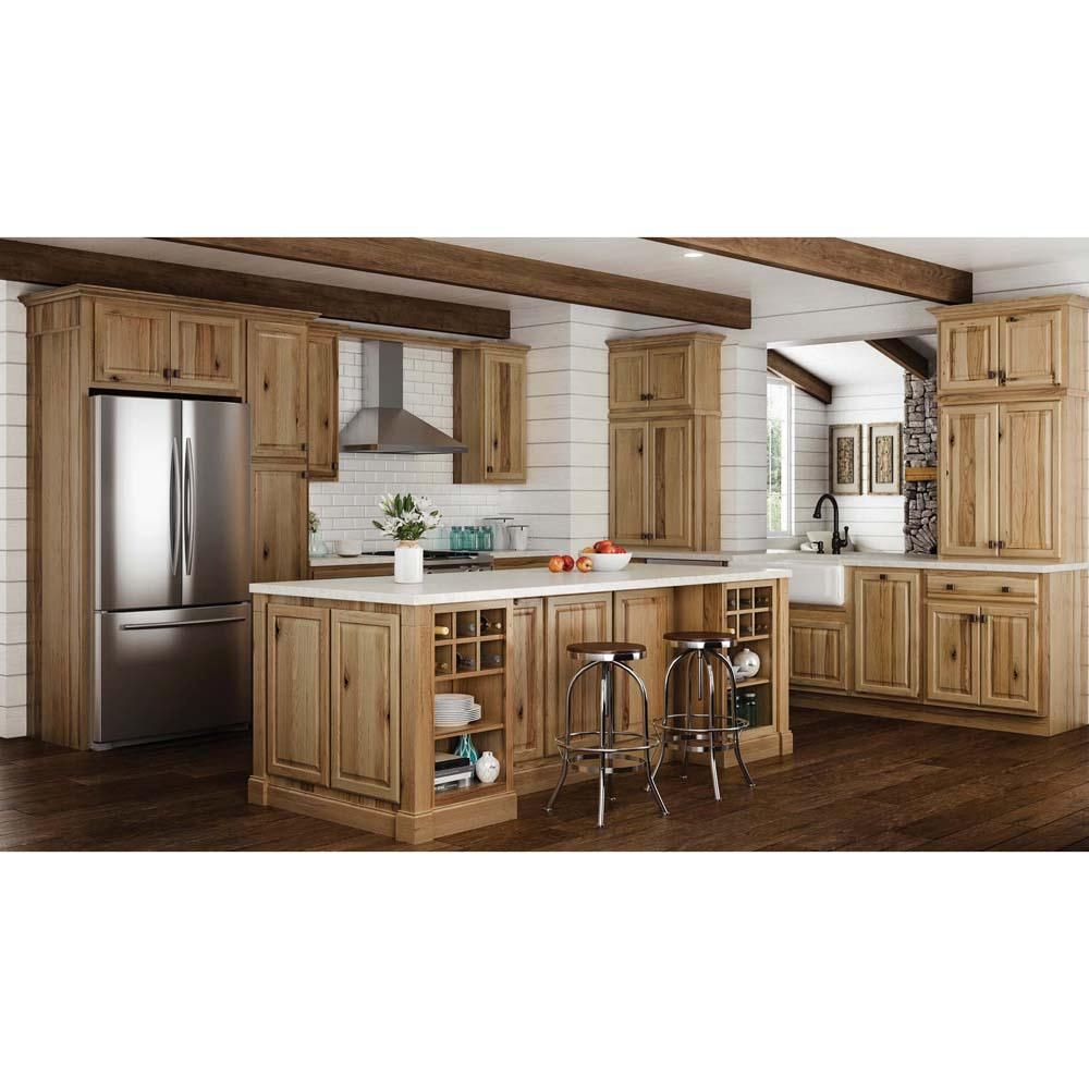 Hampton Bay Hampton Assembled 18x34 5x24 In Drawer Base Kitchen Cabinet With Ball Bearing Drawer G Home Depot Kitchen Hickory Kitchen Hickory Kitchen Cabinets