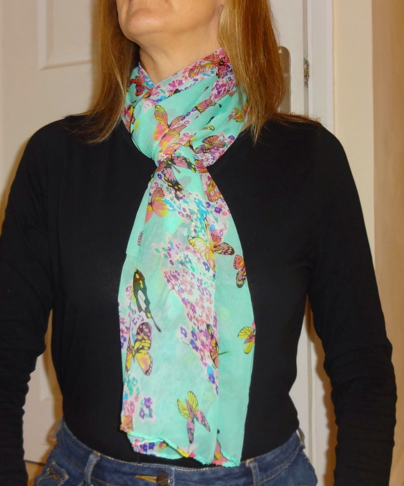Wendy's Delights: Born Pretty Store Floral Butterfly Scarf FREE SHIPPING & 10% DISCOUNT CODE HXBQ10