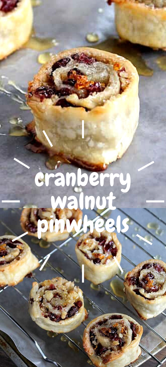 Cranberry and Walnut Pinwheels - EASY Holiday Dess