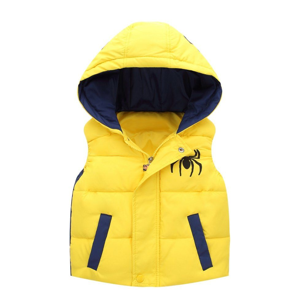 7daa76044144 ESHOO Autumn winter Children Waistcoat Baby Girl Boy Hooded Coat ...