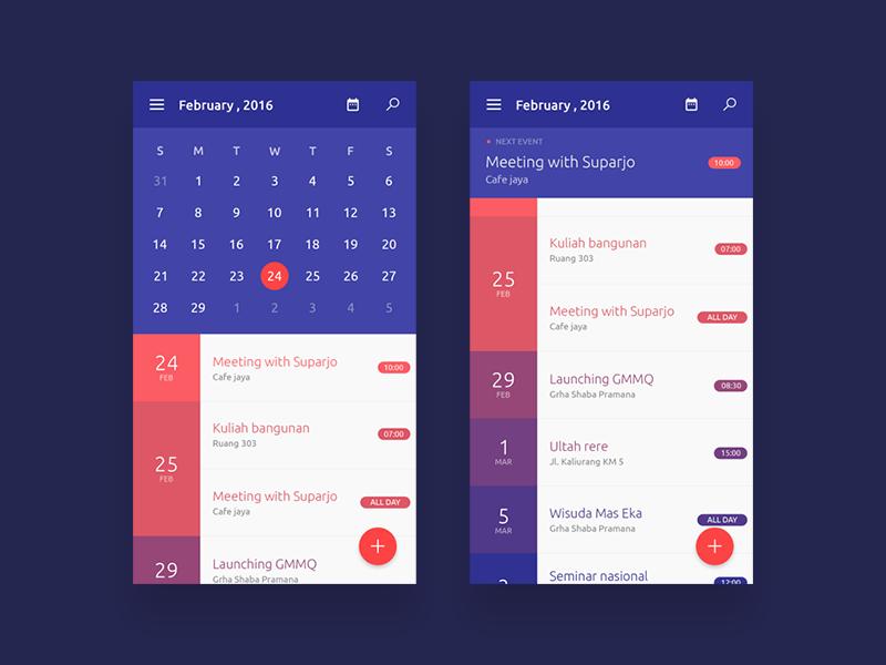Calendar Apps Calendar App Design App