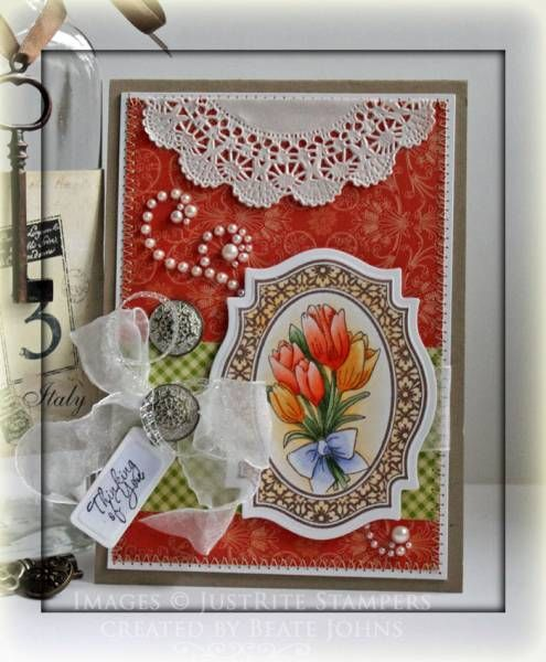 the doily adds a nice soft touch for a feminine Victorian feeling card
