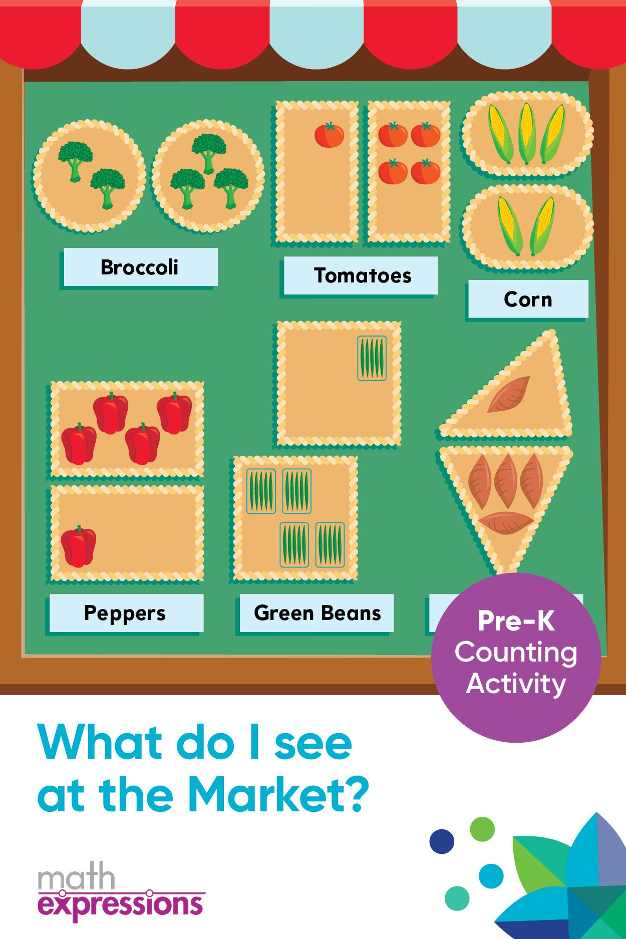 What Do I See At The Market Free Math Activity Download Math Activities Preschool Free Math Activity Preschool Activities