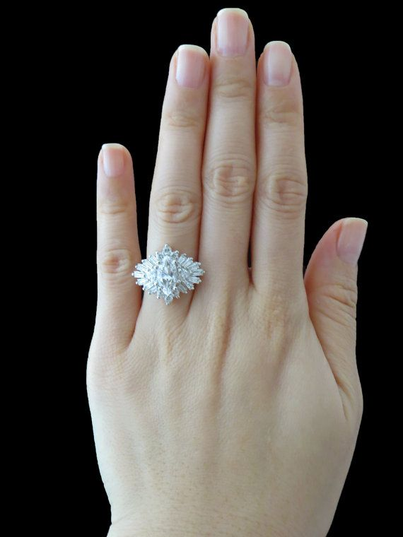 Stunning 2.5 carat Marquise Engagement, Baguette, Triangle ...