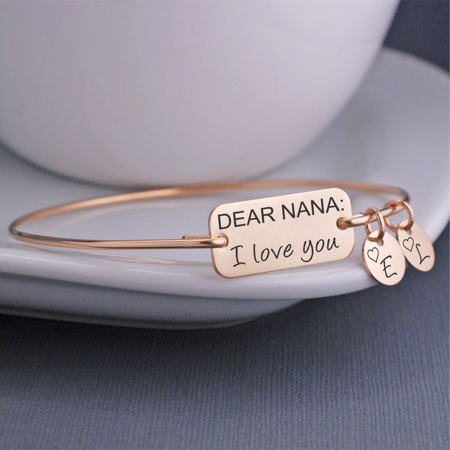 Nana Bracelet Dear I Love You Bangle Gift Mother S Day Jewelry Georgie Designs Personalized